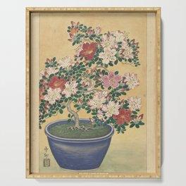 Blooming azalea in blue pot - Ohara Koson (1920 - 1930) Serving Tray