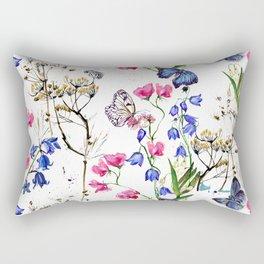 Wild Flowers Field Rectangular Pillow
