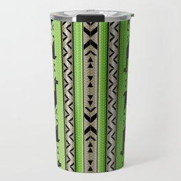 Llamas_Green and WarmGray Travel Mug
