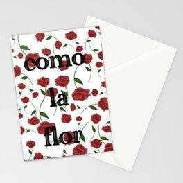 Como la flor Selena roses design Stationery Cards