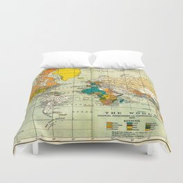Map of the old world Duvet Cover