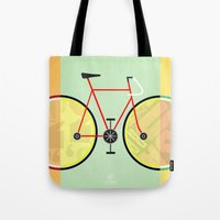 bikes Tote Bags featuring Bikes by KateWadsworth