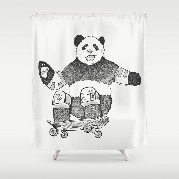 Rad Panda Shower Curtain