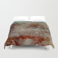 lake Duvet Covers featuring lake by abstractgallery