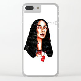 Don't touch my hair Clear iPhone Case