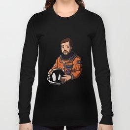 Space Captain James Long Sleeve T-shirt