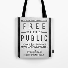 PULL to OPEN (TARDIS) Tote Bag