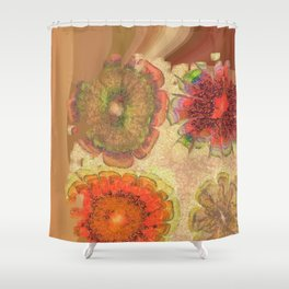 Nonpacificatory Structure Flowers  ID:16165-075207-87310 Shower Curtain