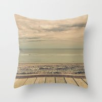 boardwalk empire Throw Pillows featuring Boardwalk by Marc Daly