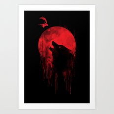 wolf hunter Art Print