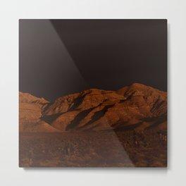 Desert Alpenglow - II Metal Print