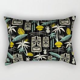 Island Tiki - Black Rectangular Pillow