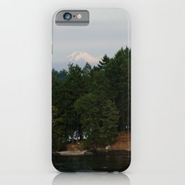 A glimpse at Mount Baker, WA iPhone Case