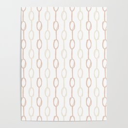 Girly Dot Stripe 2 Poster
