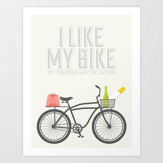 i like my bike Art Print