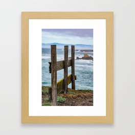 Posts in Time Framed Art Print