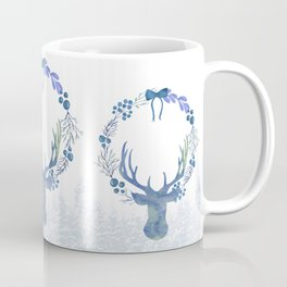 Stag Of The Winter Evergreens Coffee Mug