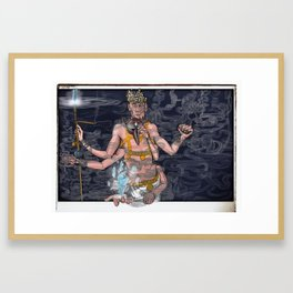 Higher-Self VS High Self Framed Art Print