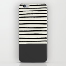 Charcoal Gray x Stripes iPhone Skin