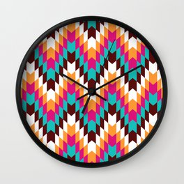 Tribal Chevron II Wall Clock