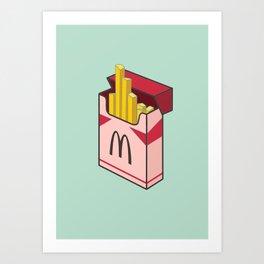 Pocket french fries Art Print