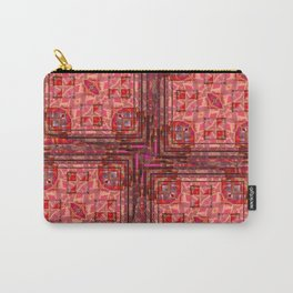 no. 197 orange pink pattern Carry-All Pouch