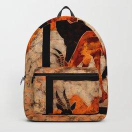 Two gazelles in a wildlife Digital wall art Backpack