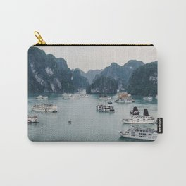 The Boats and Limestone Cliffs of Halong Bay, Vietnam Carry-All Pouch