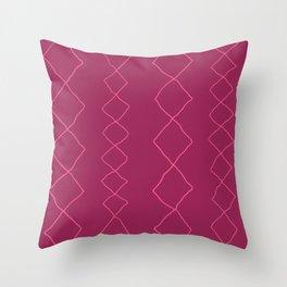 Moroccan Diamond Stripe in Magenta Throw Pillow