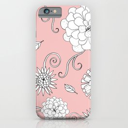 Sweet daisies on bubble gum pink iPhone Case
