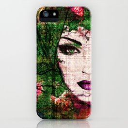 Forest Goddess by Lika Ramati iPhone Case