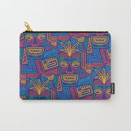 Tiki pattern Carry-All Pouch