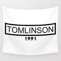 louis tomlinson Wall Tapestries featuring TOMLINSON 1991 by Jana S.