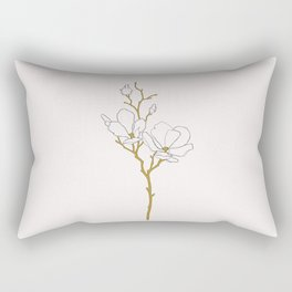 Magnolia botanical illustration - Fran Rectangular Pillow