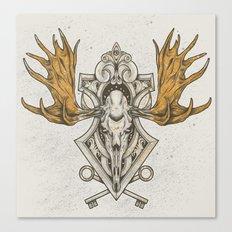Moose Skull Canvas Print