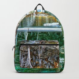 A Serene Chill - Hanging Lake Colorado Panorama Backpack