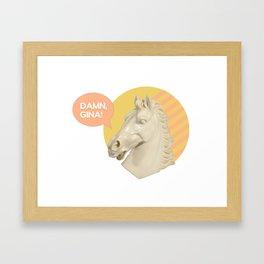 damn, gina! head bust 2 Framed Art Print