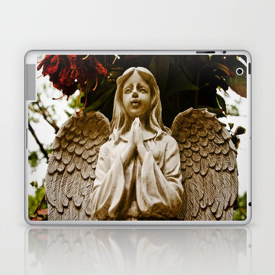 The angel prays Laptop & iPad Skin