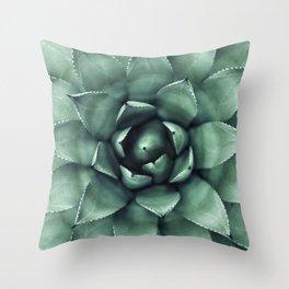 Macro Succulent Throw Pillow