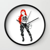 pilot Wall Clocks featuring Pilot by Freeminds