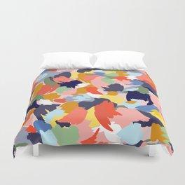 Bright Paint Blobs Duvet Cover