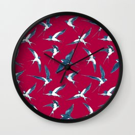 The Swallows Are Back Wall Clock