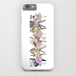 Animal Square Dance iPhone Case