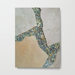 A Crack in the Pavement Metal Print