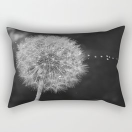 flower macro drop Rectangular Pillow