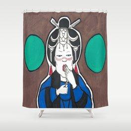 The Chubby Geisha  Shower Curtain