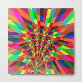Modern Colorful abstract Pattern colors blue red Metal Print