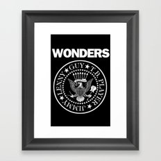 The Wonders x punk rock Framed Art Print