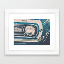 Blue Classic Camaro Framed Art Print