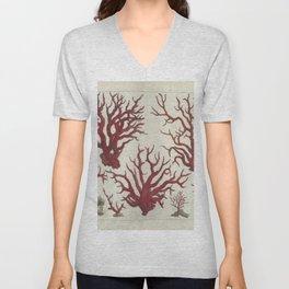 Naturalist Red Coral Unisex V-Neck